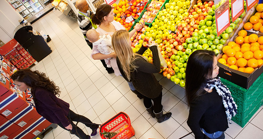 Busy Grocery Store
